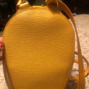 LOUIS VUITTON Epi Mabillon Backpack Yellow